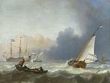 Rough Sea with a Dutch Yacht