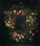 Wreath of Flowers encircling a Niche