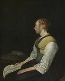 Seated Girl in Peasant Costume