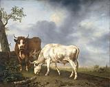 Oxen in the Meadow