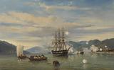 HMS Steam-Powered Battleship Medusa Opening the Shimonoseki Straits