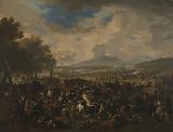 The Battle of Ramillies between the French and the Allied Powers, 23 May 1706