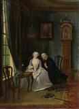 """Unseemly Love, perhaps a scene of the Widower Joost with Lucia, 2nd scene from the play """"De wanhebbelijke liefde"""" …"