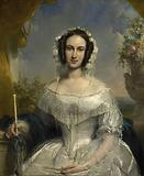 Agatha Petronella Hartsen. In a bridal toilet on the occasion of her marriage to Jan van der Hoop on March 17, 1841.