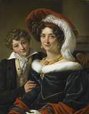Rudolphina Wilhelmina Elizabeth de Sturler, second Wife of Count Johannes van den Bosch, with their Son Richard …