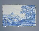 Plate with Italianate landscape