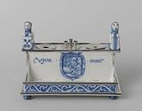 Inkstand with the coats of arms of Leiden, Delft and William III