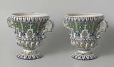 Pair of garden vases