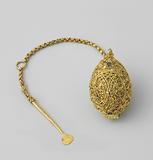 Pendant (?) In the shape of an ovoid sirih ball