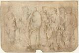 Christ and six apostles