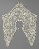 Wide mixed-lace collar with five points