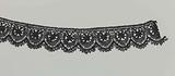 Strip bobbin lace with star and crescent
