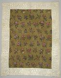 Children's bedspread in chintz with a scattered flower pattern