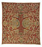 Blanket with large leafy branches with palmettes, flowers, and fruits