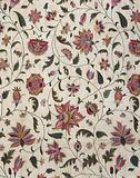 Fragment of an Embroidered Coverlet in Asian Fabric