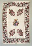 Cotton chunky bedspread with the Goslinga coat of arms