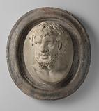 Oval medallion with faun head, Silenus (?)