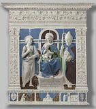 Altarpiece with the Virgin and Child Enthroned between Saint Jerome and Saint Nicholas of Myra