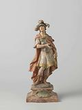 Saint figure in pseudo-Roman soldier costume