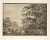 Travellers Halted in a Wooded Landscape