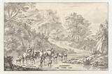 Italianate Landscape with Herders Crossing a Ford