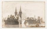 View of the Oostpoort in Delft