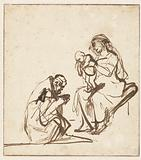 One of the Three Kings Adoring the Virgin and Child