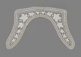 Collar with festooned leaves between spiders set in a border of festooned squares