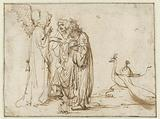 The Angel Appearing to Monoah and His Wife