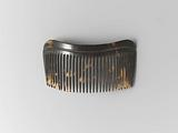 Tortoise hair comb with narrow, slightly arched back