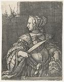 Judith with Holofernes head and sword