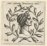 Bust of Trajan in laurel wreath
