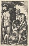 Tomyris dips Cyrus' head in blood