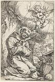 Saint Francis kissing the cross