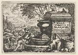 Shepherds resting at a well