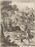 Ascanius hunts the deer of Tyrrheus