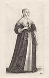 English woman with handkerchief in hand