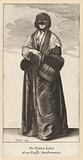 English lady in a winter costume