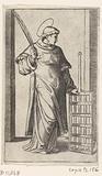 Saint Laurentius as a deacon with grate