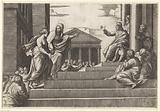 Marta leads Mary Magdalene to Christ