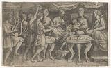 Feast of Dido and Aeneas and Cupid disguised as Ascanius
