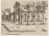 Dilapidated classic bathhouse complex (Baths of Diocletian)