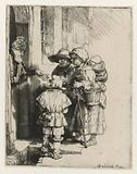 A Blind Hurdy-gurdy Player and his Family