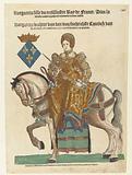 Portrait of Margaret of Valois on horseback