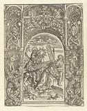 Carrying of the cross with ornamental frame