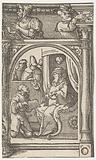 Abner's emissary kneels before David