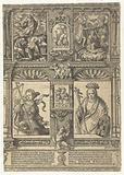 Sheet with two Sibylls and two scenes