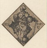 Soldier with coat of arms