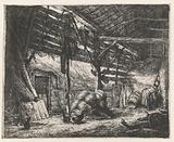 Interior of a hay barn