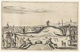 Stranded whale on the beach in Noordwijk, 1614